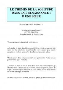 LE CHEMIN DE LA SOLITUDE _001